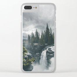 Landscape Athabasca Falls Christmas Clear iPhone Case