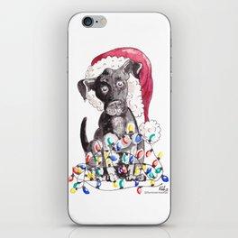 Helpful Puppy, Cute Christmas iPhone Skin