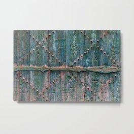 Decorative wooden gate Metal Print