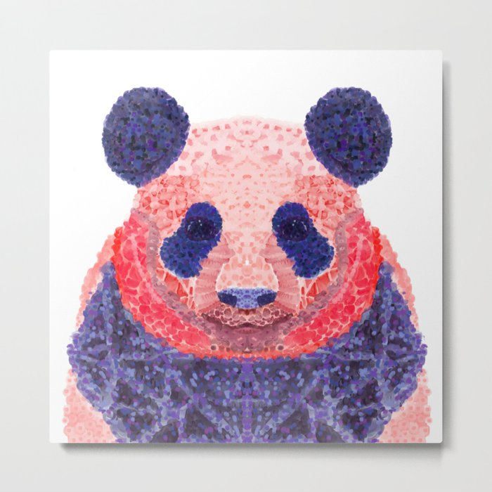 Don't Be Scared To Be Different If You're Already Rare (Panda Animal Painting Stippled Pop Art) Metal Print