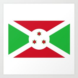 Burundi Flag Art Print