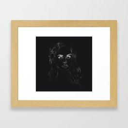 Negative Lana Framed Art Print
