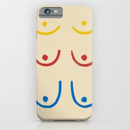 Boobs minimal iPhone Case