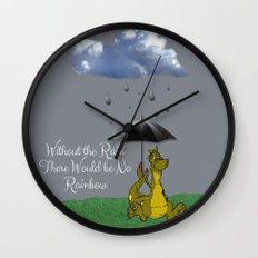 Raining Rainbow Dragon Wall Clock