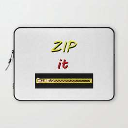 Zip it Black Yellow Red jGibney The MUSEUM Gifts Laptop Sleeve