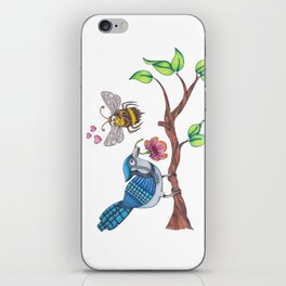the birds and the bees iPhone Skin