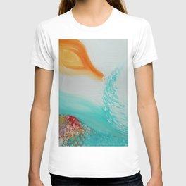 """Cristalda e Pizzomunno"" Original oil finger painting by Monika Toth T-shirt"