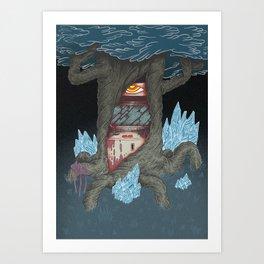 Arcade Deus Of Dark Forest Art Print