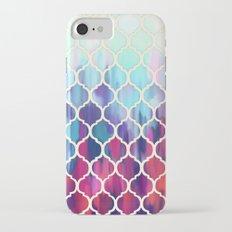 Moroccan Meltdown - pink, purple & aqua painted tiles Slim Case iPhone 7