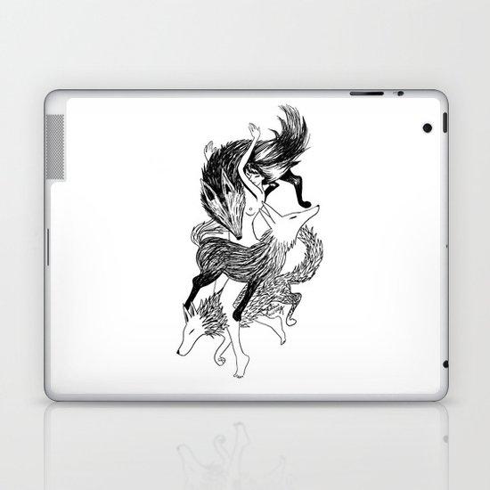 Femme Loup Tattoo Laptop & iPad Skin