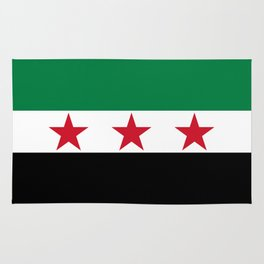 Syrian Independence Flag  High quality Rug