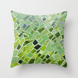 New Growth Mosaic Throw Pillow
