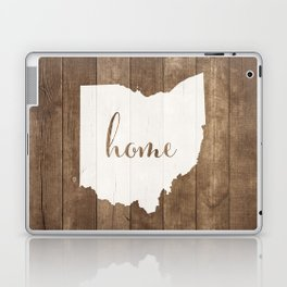 Ohio is Home - White on Wood Laptop & iPad Skin