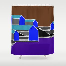 Black Stairs Shower Curtain