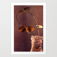 brown Art Prints featuring brown  by Claudia Drossert