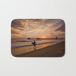 Surf City Sunsets   9/10/15   Huntington Beach California  Bath Mat