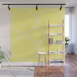 Lemon Yellow Color Burst Wall Mural