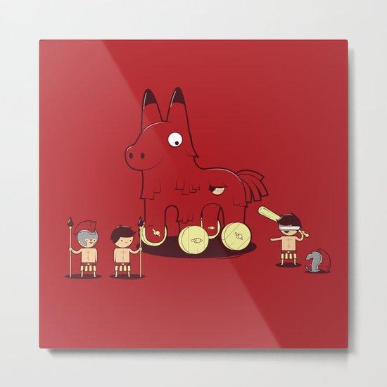 Trojan Piñata Metal Print