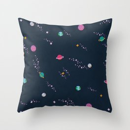 Lost in Space Pattern Throw Pillow