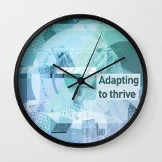 Adapting To Thrive Wall Clock