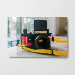 Konstruktor Toy Camera Metal Print