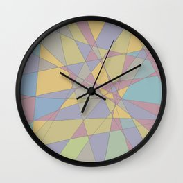 Shattered Yellow & Purple Wall Clock