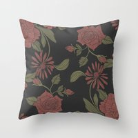 flora Throw Pillows featuring Flora by Norman Duenas