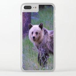 Grizzly bear cub in Jasper National Park | Alberta Clear iPhone Case