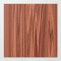 wooden Canvas Prints featuring Wooden Structure  by MehrFarbeimLeben