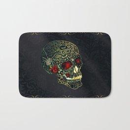 Jeweled Spider Skull Bath Mat