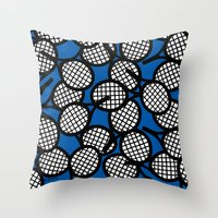 tennis Throw Pillows featuring Tennis by joanfriends