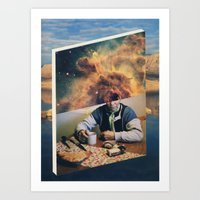 introvert Art Prints featuring Introvert by Nick Marchese