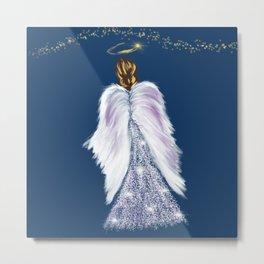 Future Angel Wings Metal Print