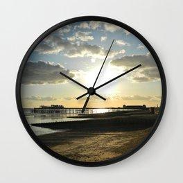 Sunset destruction Wall Clock