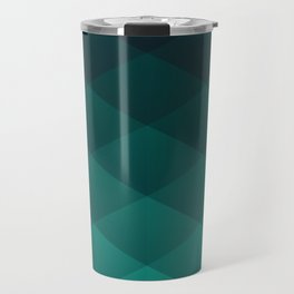 Graphic 949 // Grid Teal Fade Travel Mug