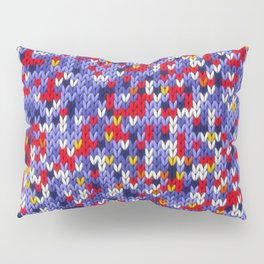 Knitted multicolor pattern 2 Pillow Sham
