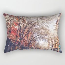 NYC Cherry Blossoms on the Lower East Side Rectangular Pillow