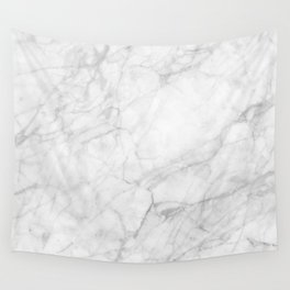 White Marble 009 Wall Tapestry