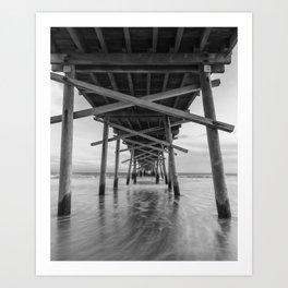 Beneath the Pier Art Print