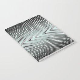 Gradient Zebra Turquoise Notebook