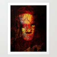 zombie Art Prints featuring Zombie by Joe Ganech