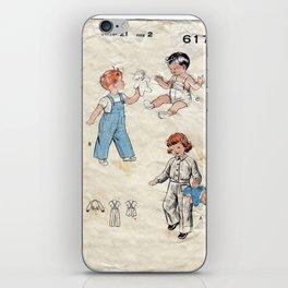 Childrens Vintage Baby iPhone Skin