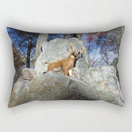 King of the Mountain Rectangular Pillow