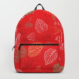 Autumn, Leaves Pattern 12 Backpack