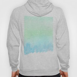 Hand painted turquoise teal blue watercolor ombre brushstrokes Hoody