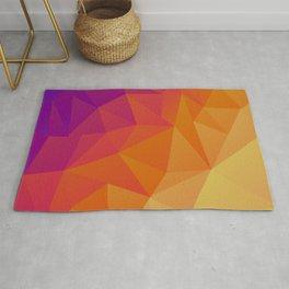 Low poly multi-color design Rug