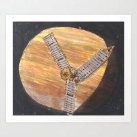 Orbiting Jupiter Art Print