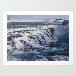 Gulfoss Waterfall, Iceland. Art Print