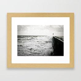 Landscape English Pier Framed Art Print