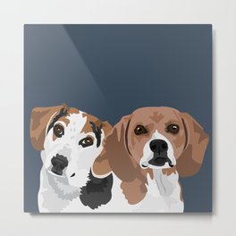 Lucy and Rocco Metal Print